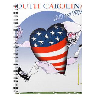 south carolina loud and proud, tony fernandes notebooks