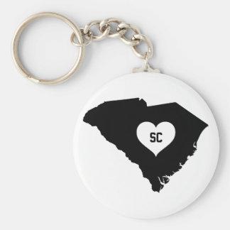 South Carolina Love Keychain