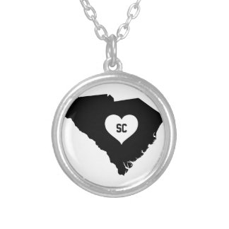 South Carolina Love Silver Plated Necklace
