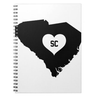 South Carolina Love Spiral Notebook