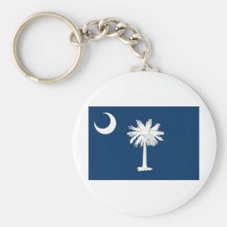 South Carolina Native Basic Round Button Keychain