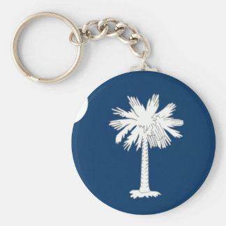 South Carolina Native Basic Round Button Keychain