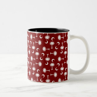 South Carolina Palmetto Moon Flag Garnet Two-Tone Coffee Mug