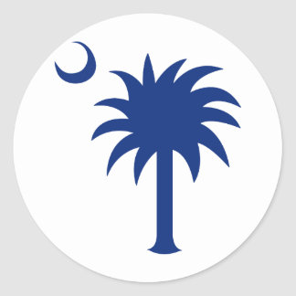 South Carolina Palmetto Tree Classic Round Sticker