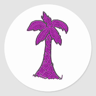 South Carolina Palmetto tree Classic Round Sticker