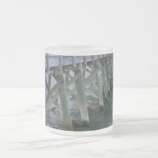 South Carolina Pier Frosted Glass Mug