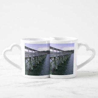 South Carolina Pier Couple Mugs