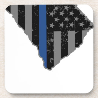 South Carolina Police & Law Enforcement Thin Blue Beverage Coaster