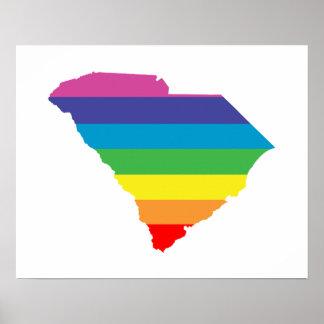 south carolina rainbow poster