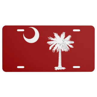 South Carolina Red State Flag License Plate