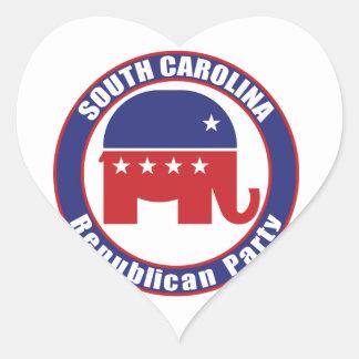 South Carolina Republican Party Heart Sticker