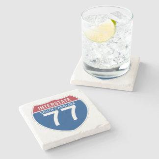South Carolina SC I-77 Interstate Highway Shield - Stone Coaster