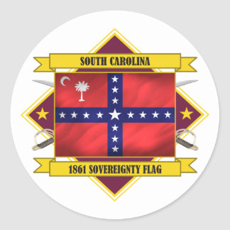 South Carolina Sovereignty Classic Round Sticker