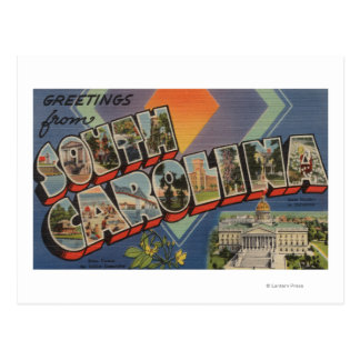 South Carolina (State Capital/Flower) Postcard