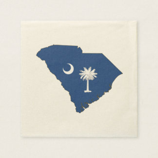 South Carolina State Flag and Map Paper Napkins
