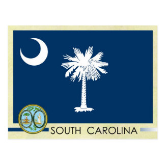 South Carolina State Flag and Seal Postcard