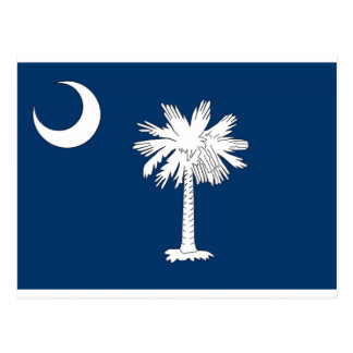South Carolina State Flag Blue Palm Post Card