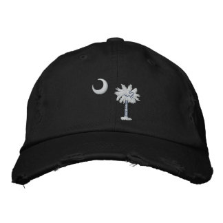 South Carolina State Flag Design Embroidered Hat