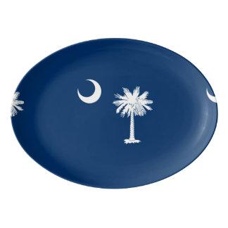 South Carolina State Flag Design Porcelain Serving Platter