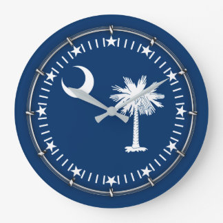South Carolina State Flag on a Large Clock