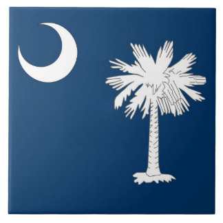 South Carolina State Flag Tile