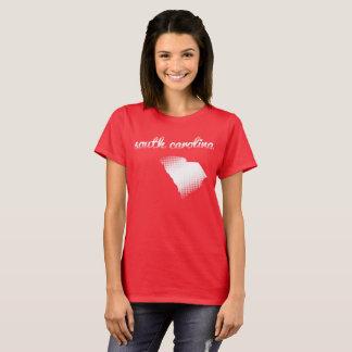 South Carolina state in white T-Shirt