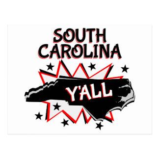 South Carolina State Pride Y'all Postcard