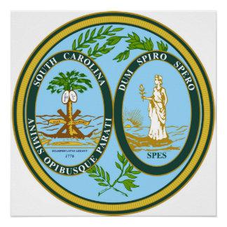 South Carolina state seal america republic symbol Perfect Poster