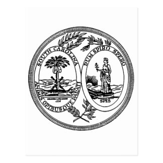 South Carolina State Seal Postcard