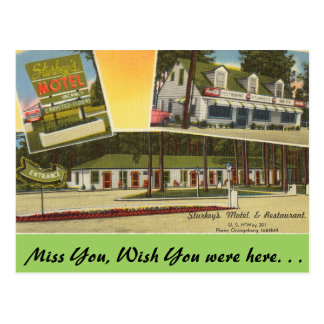 South Carolina, Sturkey's Motel, Orangeburg Postcard