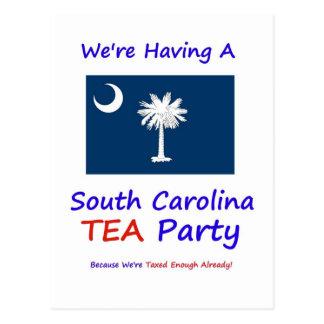 South Carolina TEA Party - Taxed Enough Already! Postcard