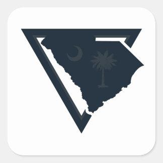 south carolina triangle square sticker