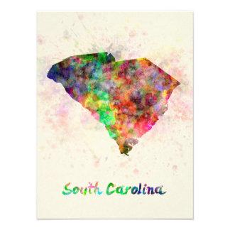 South Carolina U.S. state in watercolor Photo Print