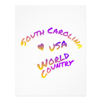 South Carolina usa world country, colorful text Letterhead