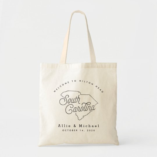 South Carolina Wedding Welcome Tote Bag