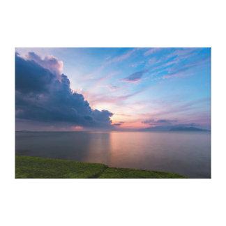 South China Sea Sunrise Sky Canvas Print