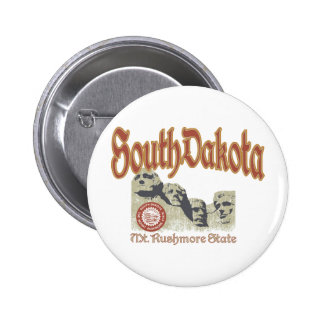 South Dakota 2 Inch Round Button