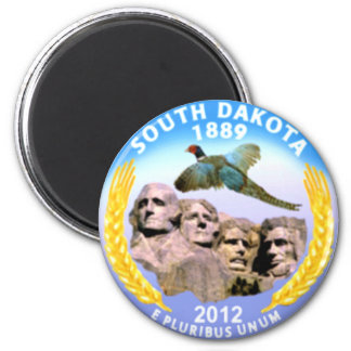 South Dakota 2 Inch Round Magnet