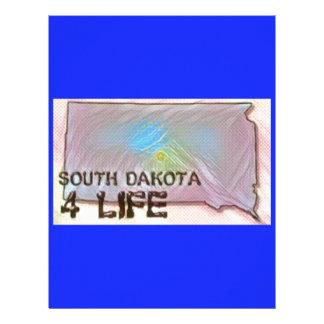 """South Dakota 4 Life"" State Map Pride Design Letterhead"