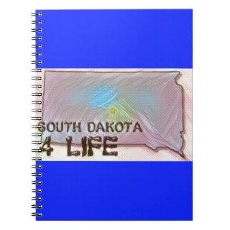 """South Dakota 4 Life"" State Map Pride Design Notebook"