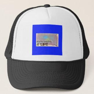 """South Dakota 4 Life"" State Map Pride Design Trucker Hat"