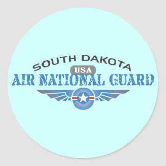 South Dakota Air National Guard Classic Round Sticker