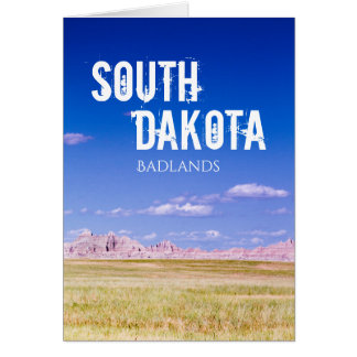 South Dakota Badlands Big Sky Card