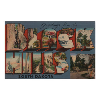 South Dakota - Black Hills - Mt. Rushmore Poster