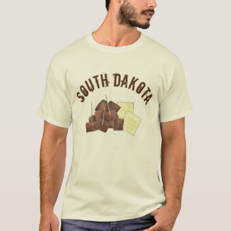 South Dakota Chislic Cubed Meat Crackers SD Foodie T-Shirt