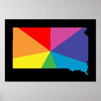 south dakota color burst poster
