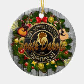 South Dakota Country Music Fan Christmas Ornament