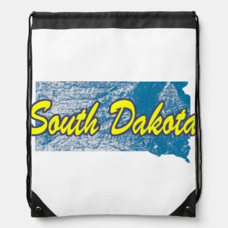 South Dakota Drawstring Bag