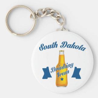 South Dakota Drinking team Basic Round Button Keychain