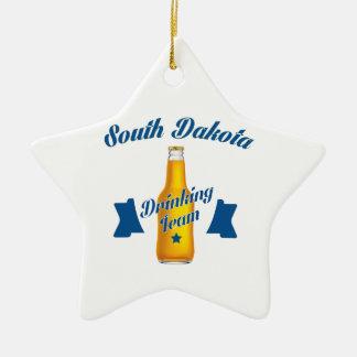 South Dakota Drinking team Ceramic Star Ornament
